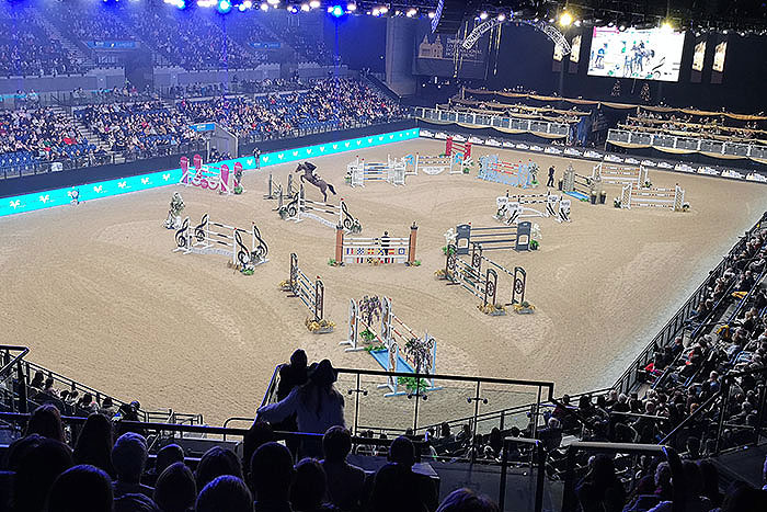 Liverpool International Horse Show. Horse Jumping