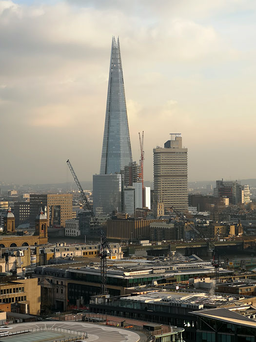 The Shard, from St Paul's Cathedral