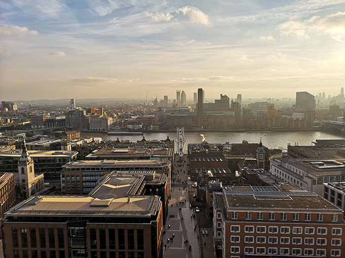 London seen from St Paul's Cathedral