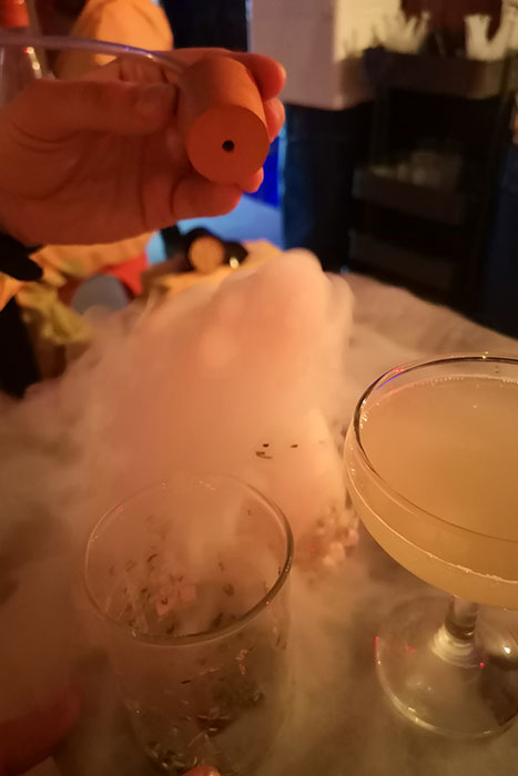 Dry ice cocktail at ABQ London