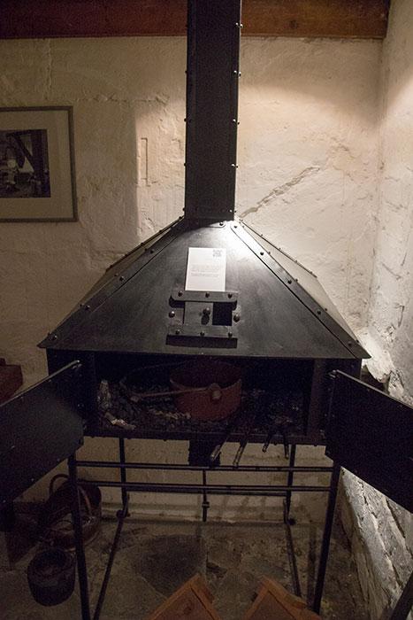 Herschel Museum of Astronomy. Furnace