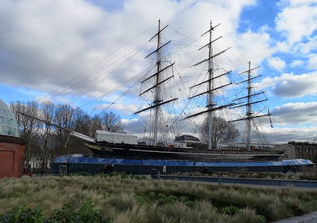 Cutty Sark. Seen from outside