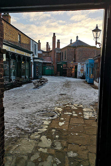 Preston Park Museum. Alley with shops