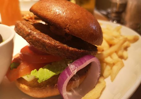 Vegan burger at Beefeater