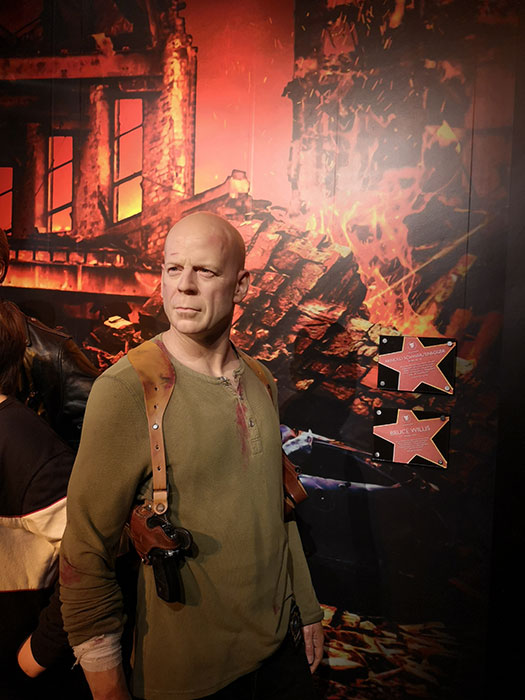 Bruce Willis at Madame Tussauds