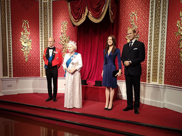 The Royal Family at Madame Tussauds