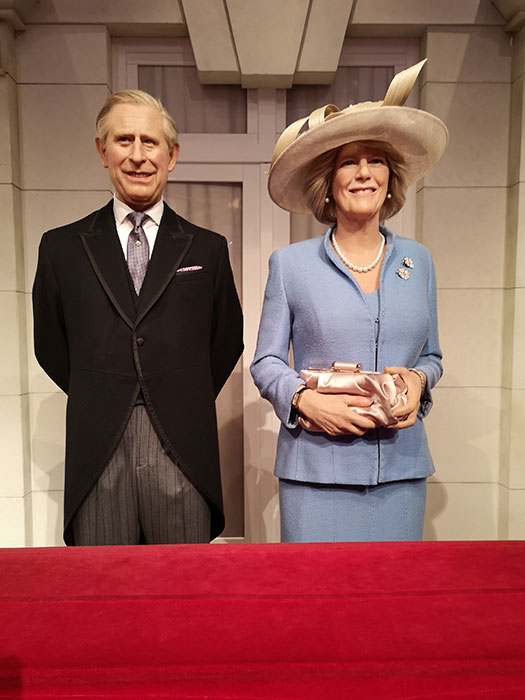 Prince Charles and Camilla at Madame Tussauds