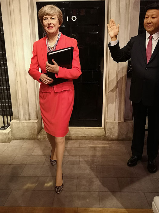 Theresa May at Madame Tussauds