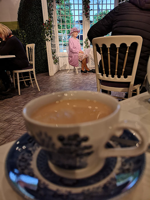 Tea rooms at Madame Tussauds