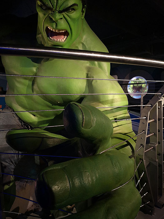 The Hulk at Madame Tussauds