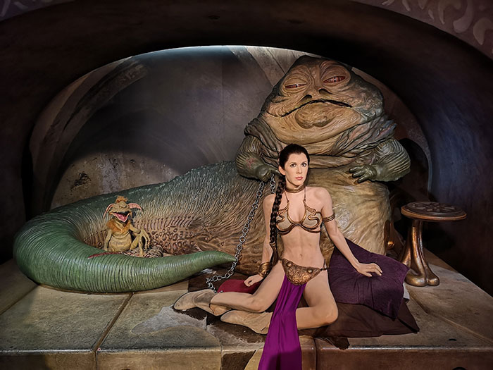 Princess Leia and Jabba at Madame Tussauds