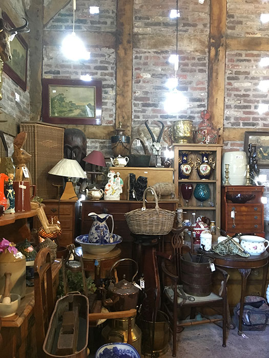 interior of an antiques centre