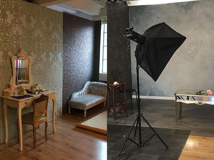 Activities with Buckt - Photoshoot. Details of the studio