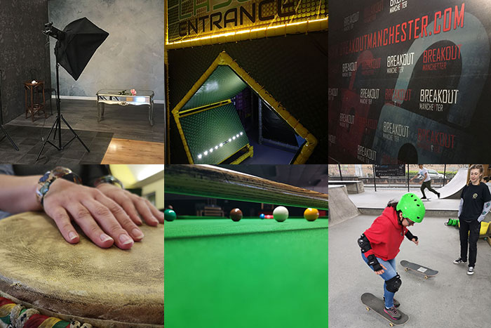 Activities with Buckt - collage of 6 activities