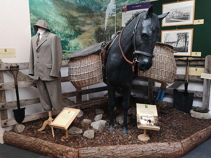 Pannier baskets on Display at Balmoral