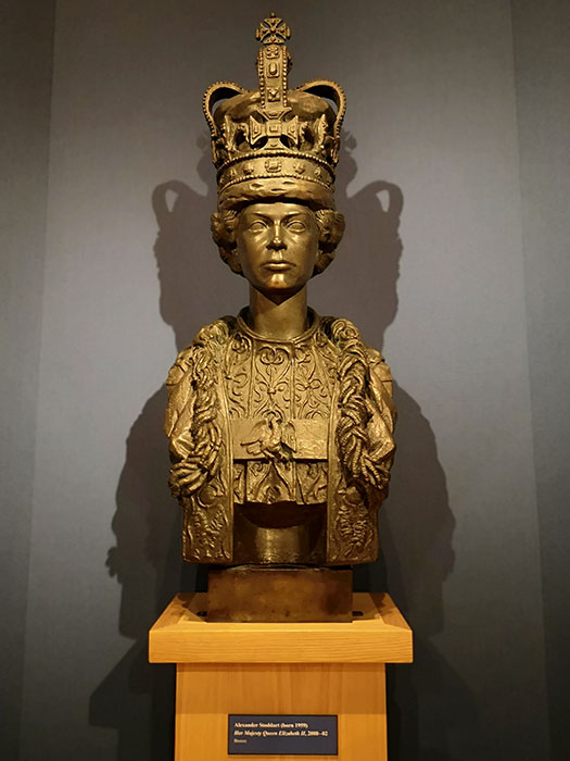 Queen Elizabeth II bust at Palace of Holyroodhouse