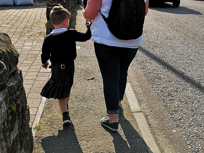 Boy in kilt. Picture taken in Markinch