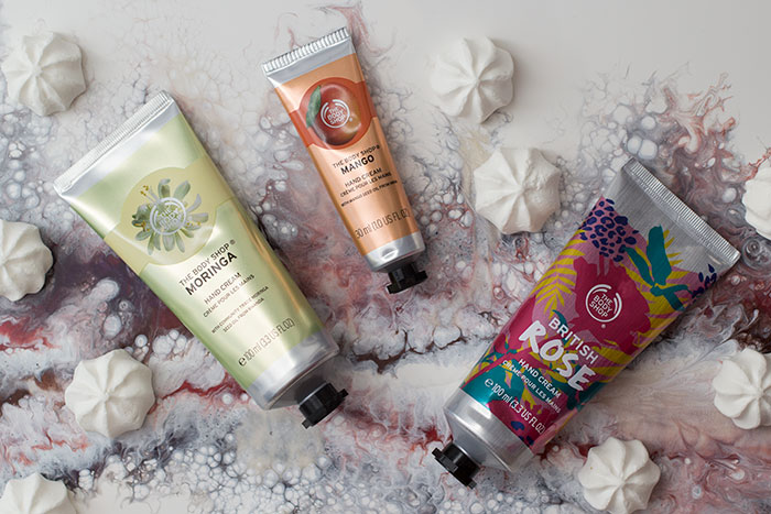Hand creams from The Body Shop