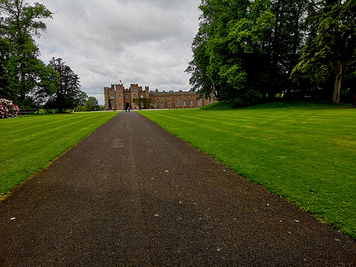 Scone Palace viewed from far away