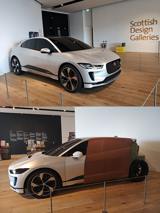 V&A Dundee car on display