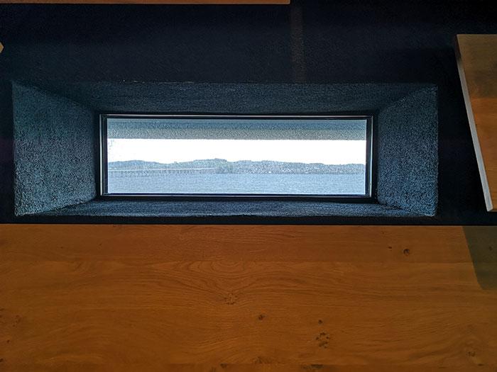 V&A Dundee window
