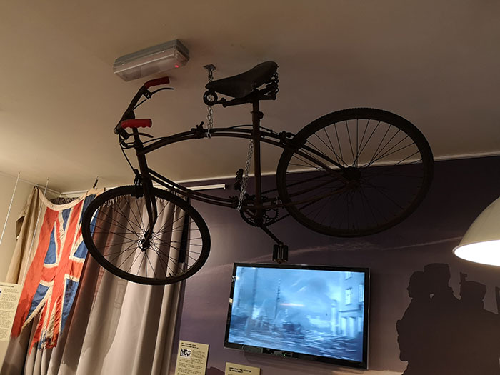 Bike on display at West Highland Museum. Fort William