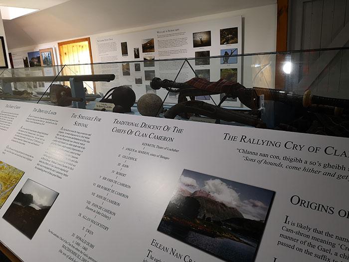 Clan Cameron Museum. Interior