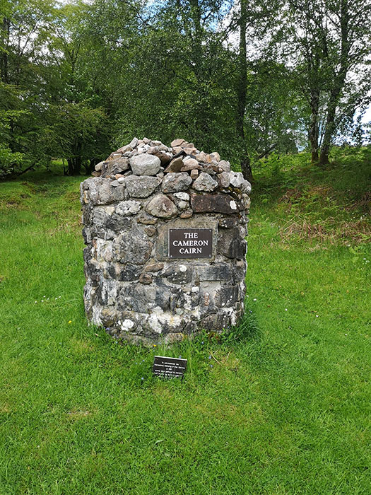 Clan Cameron Museum. Stone to commemorate a reunion