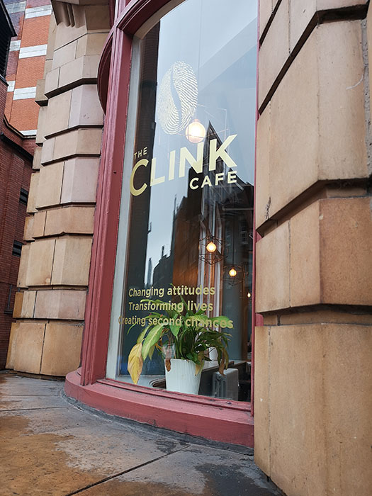 Clink Cafe. Manchester. Outside