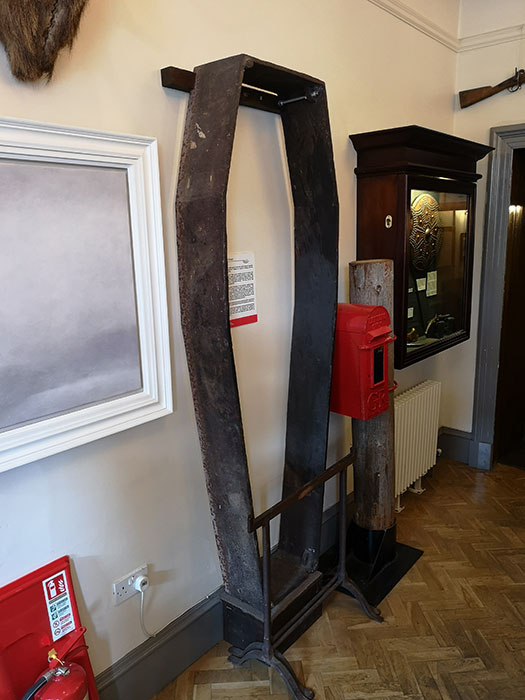 Coffin guard on display at West Highland Museum. Fort William