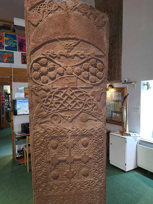 Groam House Museum. Pictish stone on display