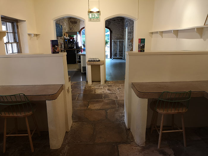 Kitchens that are also the coffee shop at Brodie Castle