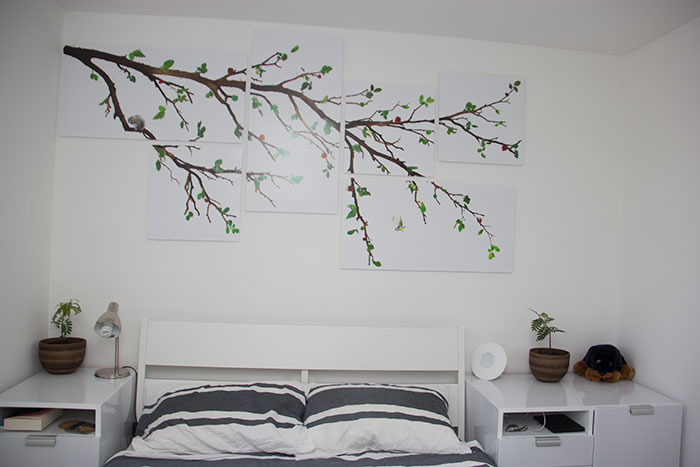My bedroom - bed and art