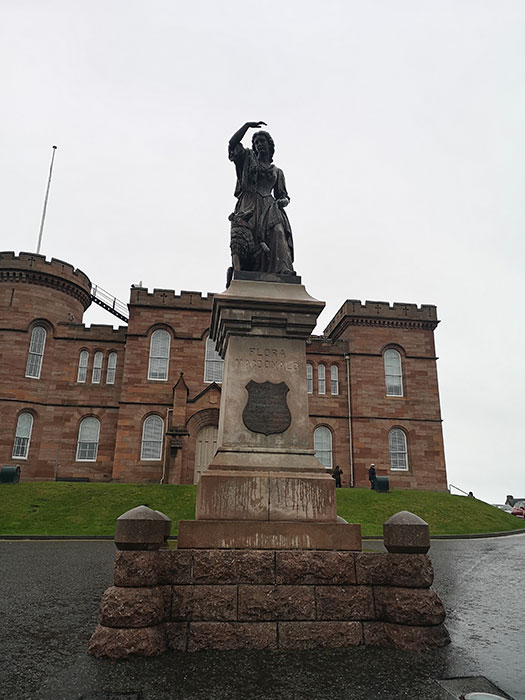 Statue in front of Inverness Castle