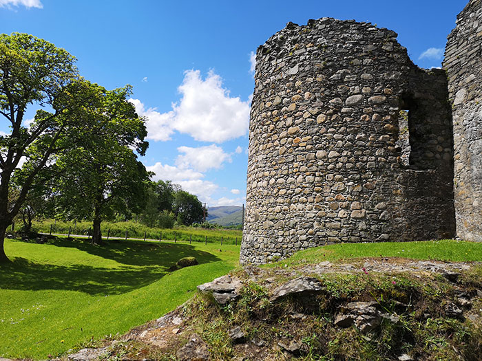 Tower of Inverlochy castle. Fort William