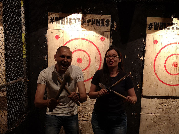 Unusual date Ideas - 4 Axe throwing
