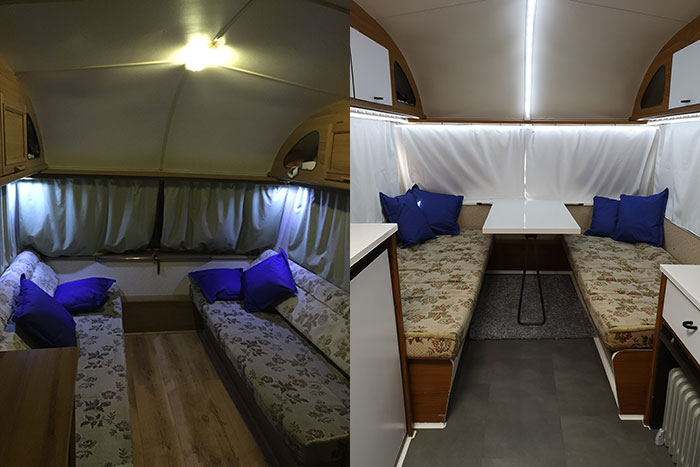 Caravan Renovations. Before and After