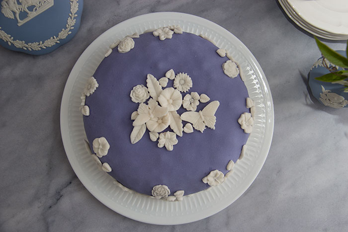 Wedgwood Cake. Seen from above