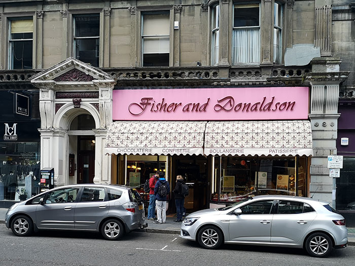 Fisher & Donaldson's bakery in Dundee