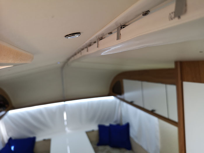 Caravan Renovations - Detail fo the ceiling lights