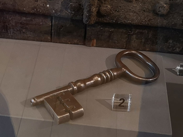 Key on display at the McManus Museum, Dundee