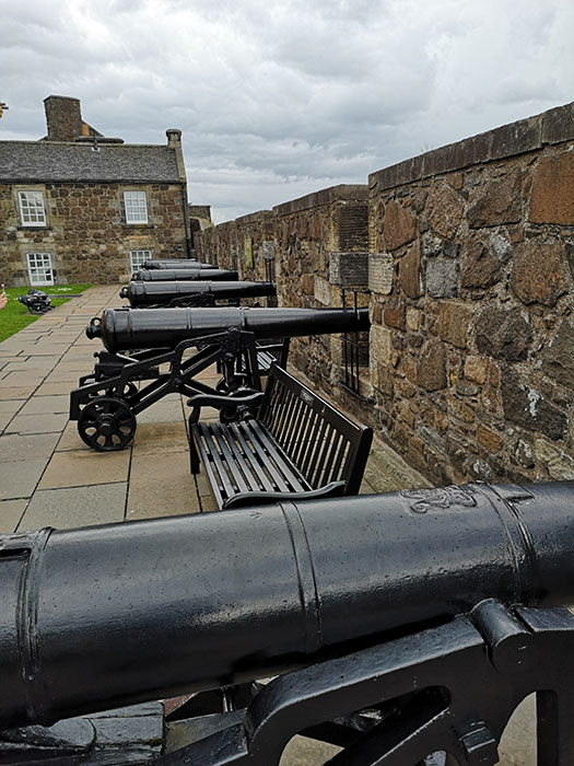 Cannons at Stirling Castle