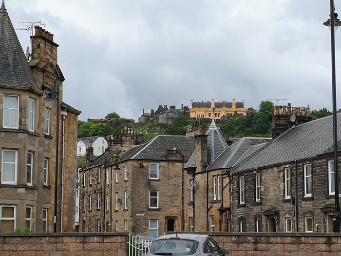 Stirling Castle, viewed from a car park