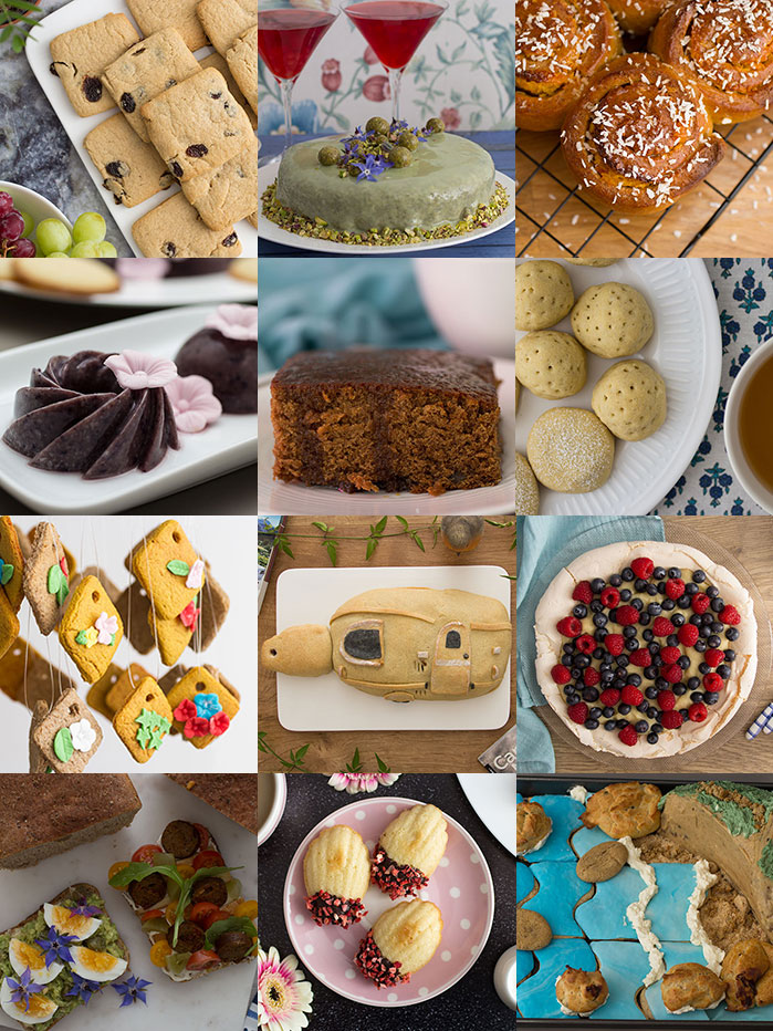 Collage with the bakes from 2018