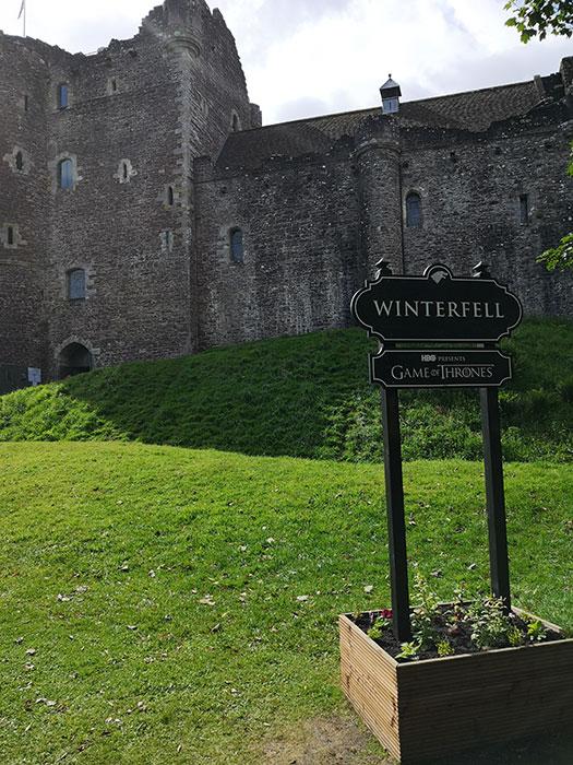 Doune Castle as Winterfell