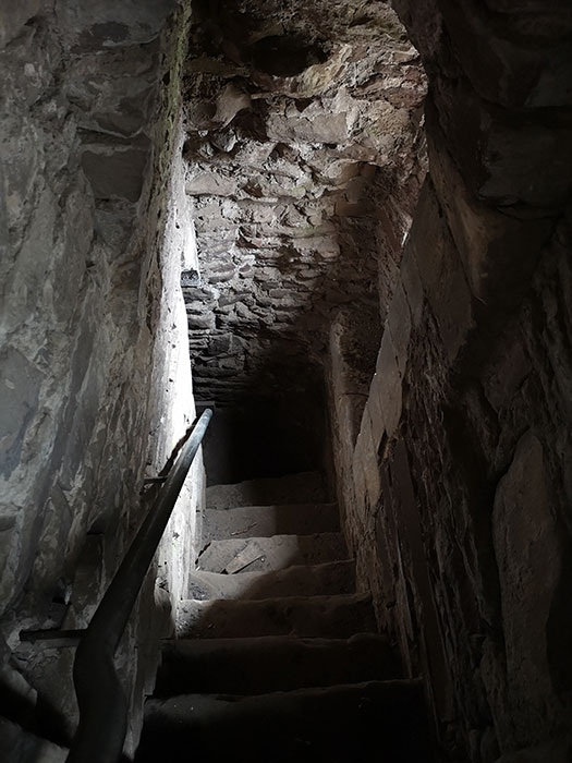 Doune Castle. Stairs