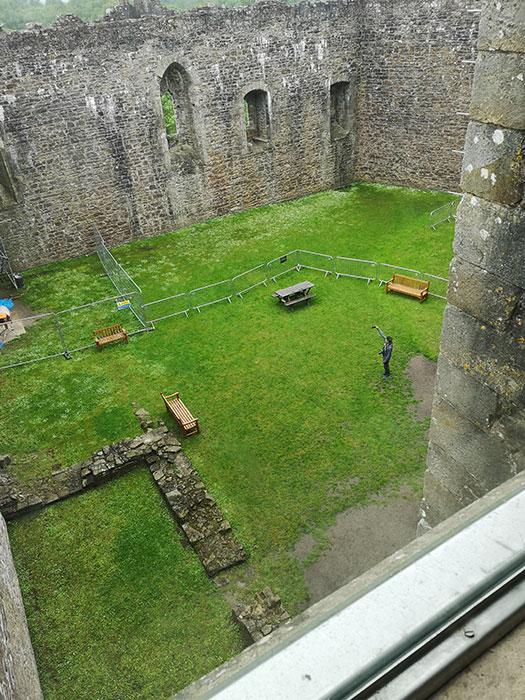 Interior lawn at Doune Castle