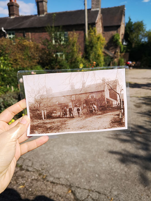 New Inn Mill. Old picture in front of the building