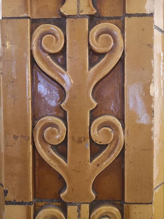 Detail of terracotta tile