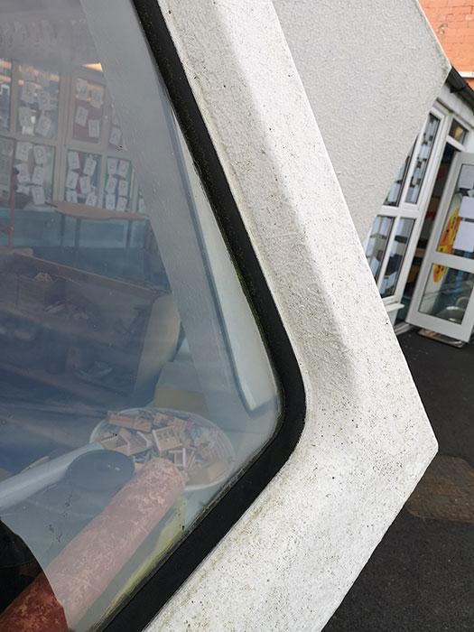Kennington Primary School. Detail of the window
